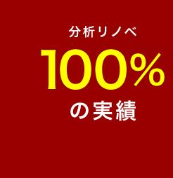 分析リノベ 100%の実績